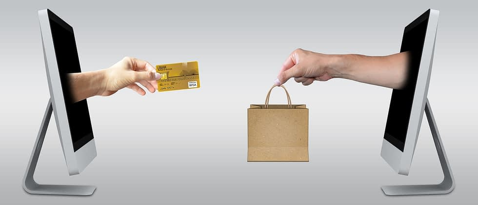 credit card, laptop